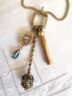 Repurposed Necklace Created with Vintage by MySalvagedTreasures, $32.00