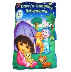 Candice guo! Newest Arrival Dora's Camping Adventure Dora Plush Book Pillow Bedtime Story Baby Toy 1pc