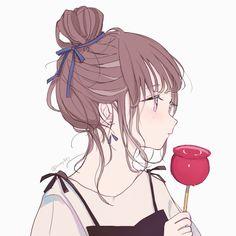 Made by All credits to them. Illustration, Cute Art, Art Girl, Kawaii Anime, Cute Drawings, Anime Drawings, Anime Style, Aesthetic Anime, Cartoon Art
