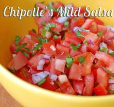 Copycat recipes for Chipotle's Mild Salsa and Corn Salsa