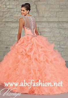 Mori Lee Quinceanera Dresses Style 89023 Colors: Mint, Coral, Iced Pink, White http://www.abcfashion.net/mori-lee-quinceanera-dresses-89023.html