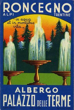 roncegno albergo palazzo delle terme italy | Art of the Luggage Label | Flickr