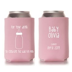 girl baby shower koozie favors baby girl by yourethatgirldesigns 89