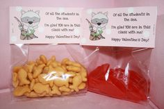 Valentine's Day treat bag toppers for your child's classmates! $1.50