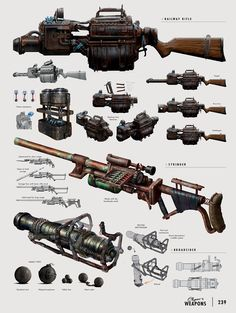 The Art of Fallout 4 - /// Vault 13 — ЖЖ Fallout Art, Fallout 4 Weapons, Fallout Concept Art, Sci Fi Weapons, Fallout New Vegas, Weapon Concept Art, Fantasy Weapons, Fallout Cosplay, Arte Assassins Creed