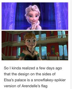 "In the song "" we know better "" they sing of how they have big ideas all their own of how the palace will be ruled. Elsa must have dreamt of changing the design."