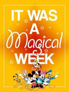 *Filler Card - It was a Magical Week - Mickey and Friends - 3x4 photo by…