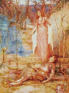"Banshee (1897 painting by Henry Meynell Rheam). The banshee, from Irish: bean sí [bʲæn ˈʃiː] (""woman of the sídhe"" or ""woman of the fairy mounds"") is a female spirit in Irish mythology, usually seen as an omen of death and a messenger from the Otherworld. In legend, a banshee is a fairy woman who begins to wail if someone is about to die."