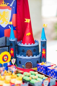 Knight Party - Castle Party - Medieval Party - Knight - King Party - Royal Birthday Party - Dragon Party Dragon Birthday Parties, Dragon Party, Dinosaur Birthday, Baby Birthday, Birthday Bash, Birthday Ideas, Castle Birthday Cakes, Castle Party, Medieval Party