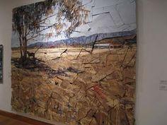 Layers of cardboard...art work idea!  Very Anselm  Kiefer!