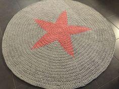 Tähti-matto | Virkattu matto Jättineulepeitto Chunky Blanket