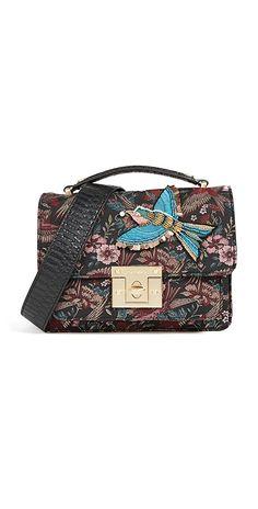 Shop Sam Edelman Majestic Bird Shoulder Bag in Multi at Modalist Bird Clothing, Retro Clothing, Vintage Bags, Clutch Purse, Luxury Branding, Shoulder Strap, Shoulder Bags, Purses And Bags, Satchel