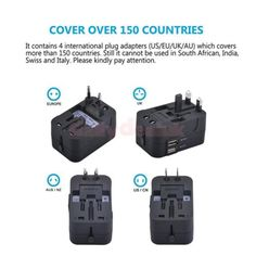 #Double usb port charging (2.1a) surge #protector universal #travel wall adaptor,  View more on the LINK: http://www.zeppy.io/product/gb/2/232068968546/