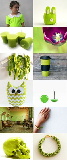 Neon Green by Melissa on Etsy--Pinned with TreasuryPin.com