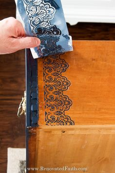 Don't let your next project be ruined because of paint bleeding through your stencil. In this post, I share 5 easy to stencil on wood perfectly every time! Stencil Letters On Wood, Stencils For Wood Signs, Stencil Wood, Letter Stencils, Painted Letters, Stencil Painting, Lace Stencil, Stencil Diy, Chalk Paint Furniture