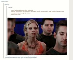 It's like people want Buffy and they don't even know it.