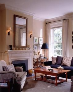 Award Winning Greenwich Village Townhouse - traditional - Living Room - New York - Gleicher Design - Architecture & Interiors Living Room Remodel, Living Room Paint, Living Room Sofa, Home Living Room, Living Room Designs, Living Room Decor, Cottage Living, Unique Living Room Furniture, Home Decor Furniture