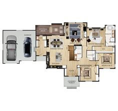 4 Bedroom House House And Layout On Pinterest