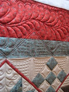 Another example of exquisite quilting. This woman does amazing work.