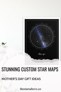 Perfect Mother's Day gift 🎁. Capture the stars ⭐ above the moment the little bundle of joy came into the world. Star Maps, Sky Images, Unique Mothers Day Gifts, Unique Home Decor, Custom Homes, Personalized Gifts, Art Pieces, Diy Projects, Joy
