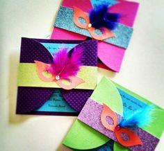 Convite para festa de carnaval. #convite #invitation #carnaval #máscaras