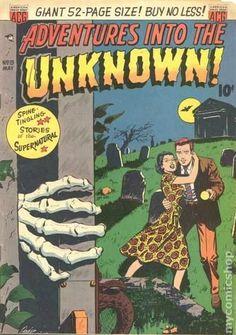 Adventures into the Unknown ACG) comic books Comic Book Covers, Comic Books, Vampire Bites, Tales Of Suspense, Pre Code, Damsel In Distress, Horror Comics, Pulp Art, Werewolf