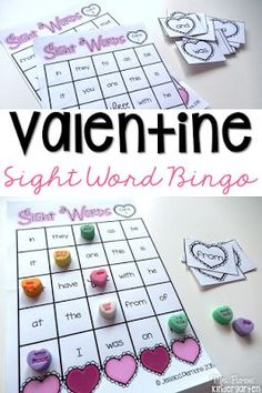 Valentines parties can be full of great practice too with these sight word Bingo boards. Great for kindergarten and first grade classrooms.