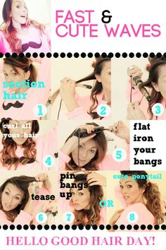 kandeej.com: HOW TO GIVE BAD HAIR DAYS A KARATE CHOP- for every girl that doesn't want to waste time doing their hair!