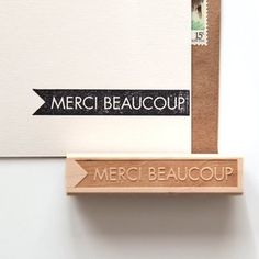 Merci Beaucoup Rubber Stamp by Hunter's Hideaway