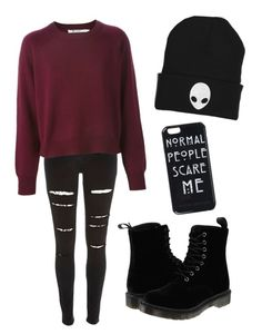 """""""Untitled #7"""" by gabbbriele ❤ liked on Polyvore featuring River Island and Dr. Martens"""