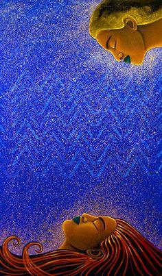 Acrylic and Oil on Canvas : Hinepukohurangi and Hinewai. Read the story… Polynesian Designs, Maori Designs, Pi Art, Maori Legends, Maori Symbols, Hawaiian Art, Prophetic Art, Maori Art, Kiwiana