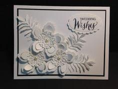 Botanical Blooms,Rose Wonder, White on White, Wedding Card, Stampin' Up!, Rubber Stamping, Handmade Cards