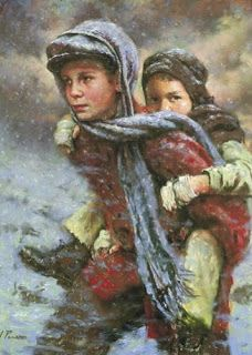 Chris used the story behind this painting (brothers James and Joseph Kirkwood) to teach the family night lesson on loving and serving our family members. This story made me cry. I am so grateful for the faith of these wonderful people.
