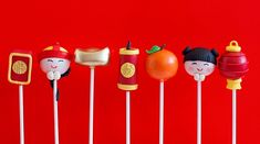 Chinese New Year cake pops  To celebrate Chinese New Year, Celebrations created this charming collection of cake pops, adorably portraying aspects of Chinese culture, inclusive of red envelopes, firecrackers and lanterns.