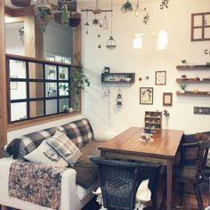 セリアのフレームで窓枠風/DIY/ダイニング/カフェ風/キッチンのインテリア実例 - 2015-01-30 07:27:04   RoomClip(ルームクリップ)