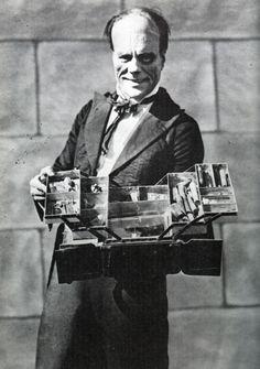 Lon Chaney as the Phantom with his make-up kit, via William Forsche, via universalmonstersblog.