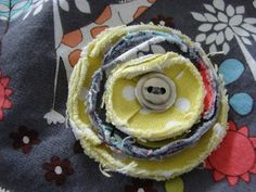 With love by Rach: Fabric Flowers- A Tutorial