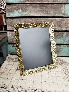 cd03582e9cd0 Vintage Metal Picture Frame Ormolu Baroque French Provincial Hollywood  Regency 8x10 Photo Frame Mid Century Shabby Chic Antique Gold Tulips