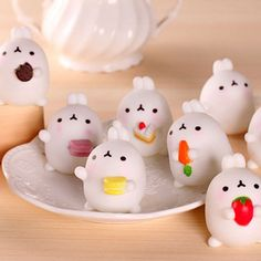 Bag Parts & Accessories Beautiful Kawaii Mini Bunny Bag Accessories Squeeze Stretchy Cute Pendant Bread Cake Kids Toy Gift 1 Pcs Octopus Slow Rising Jade White