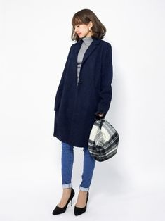 Futier landのノーカラージャケット「選べる3typeネック×ベーシックコート」を使ったeriko(ZOZOTOWN)のコーディネートです。WEARはモデル・俳優・ショップスタッフなどの着こなしをチェックできるファッションコーディネートサイトです。