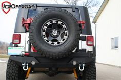 JcrOffroad, Inc. JK Wrangler Rear Tire Carrier Bumper - Deluxe www.jcroffroad.com  I really like this except it comes in bare metal so it still has to be finished with a powder coat, paint, or bed liner product.