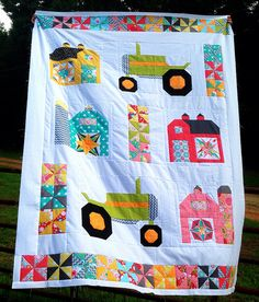Farm girl quilt top (based on Bee In My Bonnet Barn Quilt-along) House Quilts, Boy Quilts, Girls Quilts, Mini Quilts, Quilting Projects, Quilting Designs, Sewing Projects, Quilting Ideas, Sewing Ideas