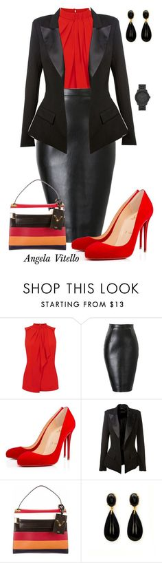 """Untitled #627"" by angela-vitello on Polyvore featuring Oasis, Christian Louboutin, Alexandre Vauthier, Valentino and LEFF Amsterdam"