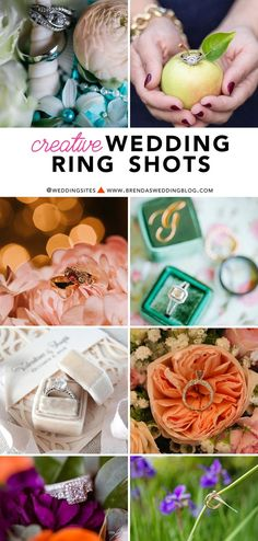 Creative Wedding Ring Shots : Click to Visit www.BrendasWeddin... and see all the sparkly photo inspiration of wedding rings and engagement rings
