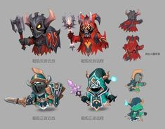 MOBA - Minions adv by elmolol on DeviantArt Cat Character, Character Sketches, Game Character Design, Character Design References, Character Concept, Illustrator, 2d Game Art, Mobile Art, Game Concept Art