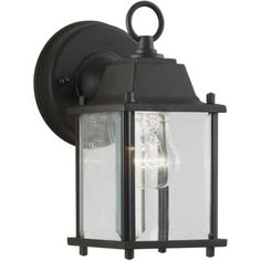 Forte Lighting 1705-01 Craftsman / Mission Outdoor Wall Sconce from the Exterior Lighting Collection | Overstock.com Shopping - The Best Deals on Wall Lighting