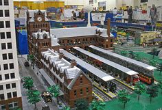 Image result for LEGO elevated subway
