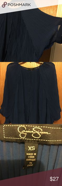 Final Price $11 Firm Jessica Simpson XS Royal Blue Two piece-undertank attached Jessica Simpson Tops Blouses