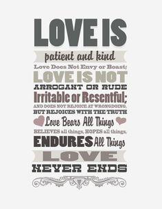 Love Is - FREE Printable