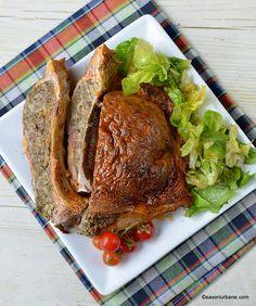 Coaste de miel la cuptor umplute cu drob | Savori Urbane Romanian Food, Steak, Salads, Paste, Food And Drink, Breakfast, Recipes, Honey, Essen